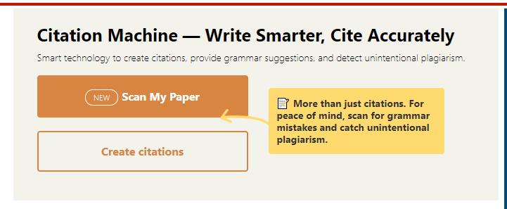 Citation Machine home page image